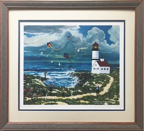 "Jane Wooster Scott ""High Flyers at Stormy Point"" Newly CUSTOM FRAMED Hand Signed"