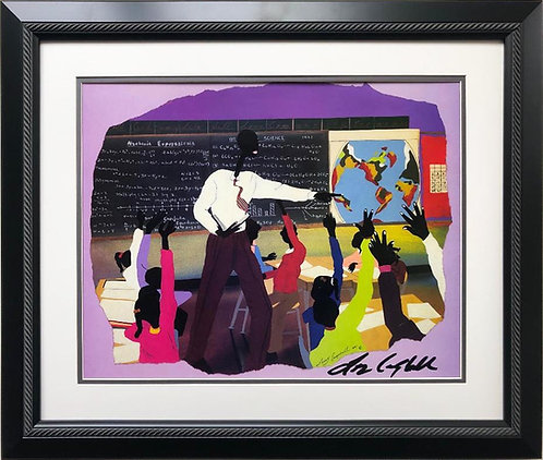 "Leroy Campbell ""Participation"" Signed Framed African American Art"