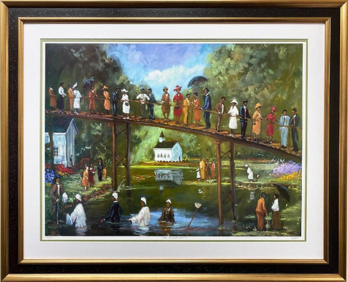 "Ted Ellis ""Take Me to the Water II"" Signed & # FRAMED Art"