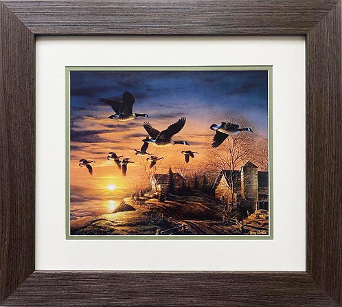 "Terry Redlin ""Sundown"" CUSTOM FRAMED Art Print"