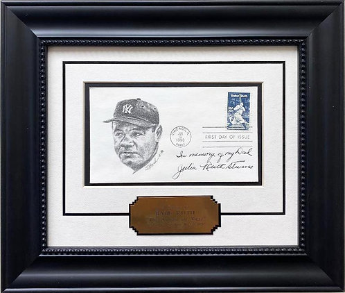 """""""Babe Ruth"""" First Day Issue Stamp Baseball Limited Edition Framed Cover Art"""