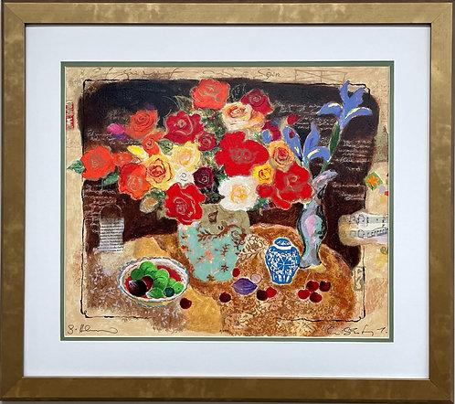 """Alexander & Wissotsky """"Chinese Vase"""" Signed Limited FRAMED ART"""