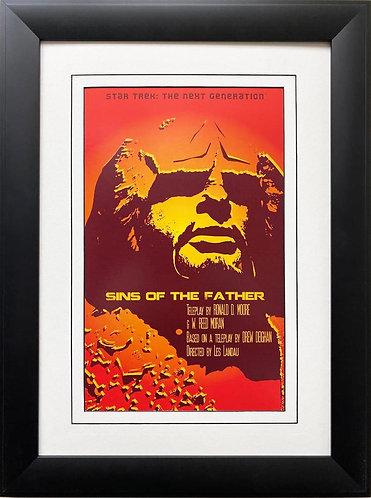 "Star Trek: The Next Generation ""SIns of the Father ""CUSTOM FRAMED ART"