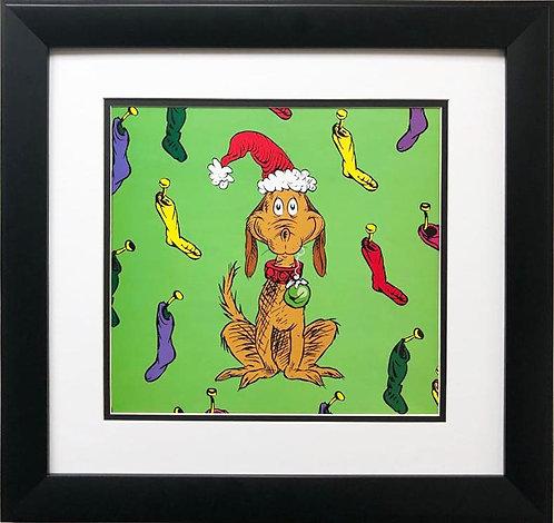 "Dr. Seuss ""Max the Dog"" NEW FRAMED ART"