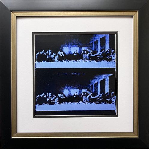 "Andy Warhol ""Last Supper"" (blue) FRAMED Pop Art"