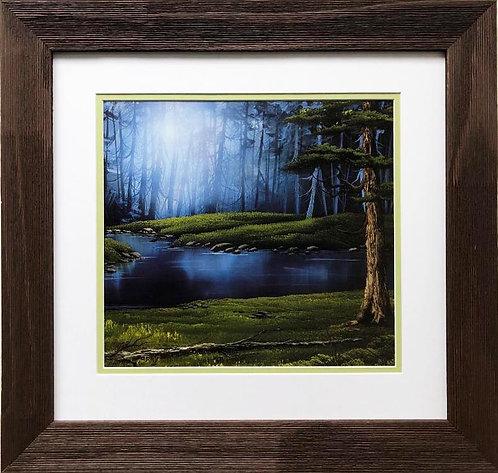 """Bob Ross """"Magical Forest"""" CUSTOM FRAMED ART"""