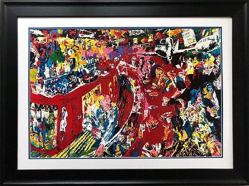 """LeRoy Neiman """"The 21 Club"""" Custom Framed Ar"""