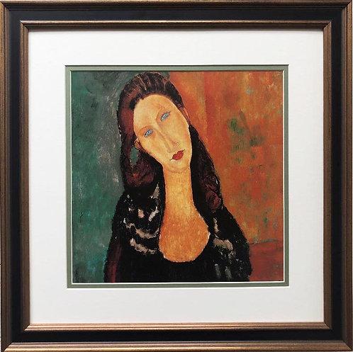 """Amedeo Modigliani """"Seated Jeanne Hebuternet"""" CUSTOM FRAMED ART"""