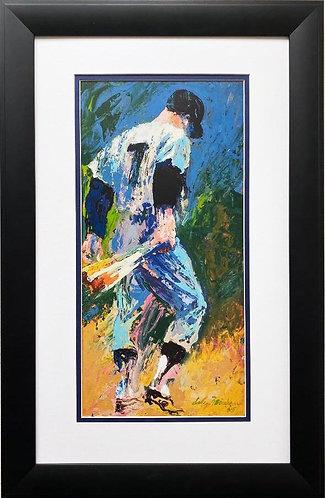 "LeRoy Neiman ""Mickey Mantle"" FRAMED New Art Print"