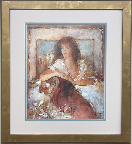 "Batia Magal ""Eternal Moment"" Hand Signed Lmtd Edition Serigraph FRAMED ART"