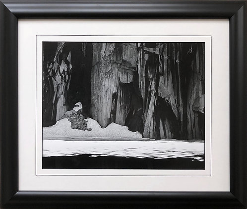 "Ansel Adams ""Frozen Lakes & Cliffs"" Custom Framed NEW ART Kaweah Black and White"