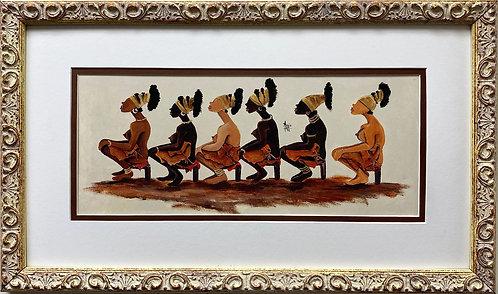 "Annie Lee ""The Kings Wive's"" NEW Custom FRAMED African American ART Black BLM"