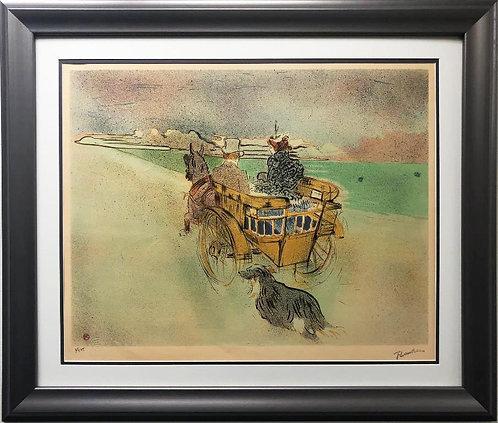 "Toulouse-Lautrec ""La Charrette Anglais- The English Dog Cart Framed Art Limited"