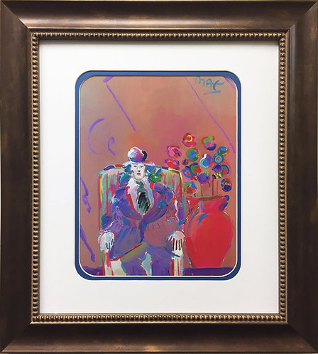 """Peter Max """"Seated Man"""" (1993)"""