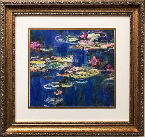 "Claude Monet ""The Waterlillies: Green Reflections (detail) CUSTOM FRAMED"