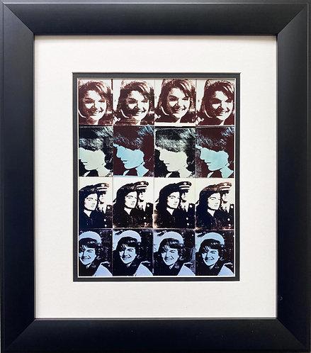 "Andy Warhol ""Sixteen Jackies, 1964"" CUSTOM FRAMED Pop Art"