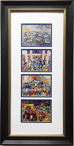 "LeRoy Neiman ""The Exchanges"" Newly CUSTOM FRAMED Print - American Stock Exchange"