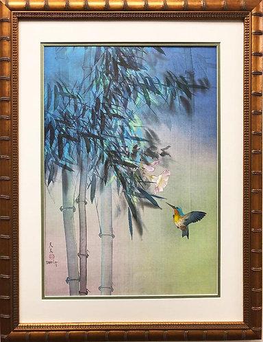 """David Lee """"Evening Flight"""" Custom Framed Art"""