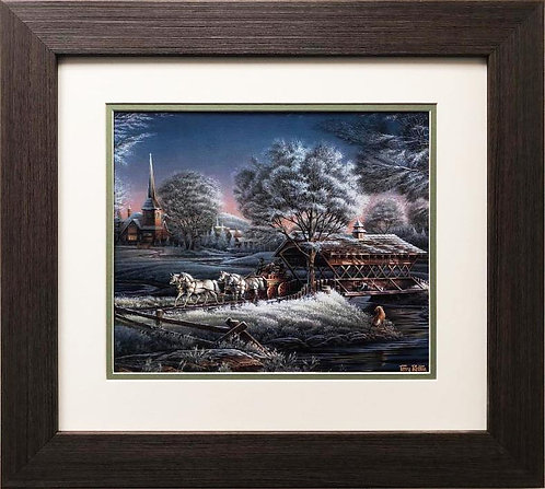 "Terry Redlin ""Morning Frost"" FRAMED  Art"
