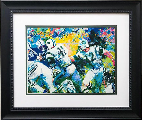 "LeRoy Neiman ""The Handoff- Superbowl III (Med)"" FRAMED Art"
