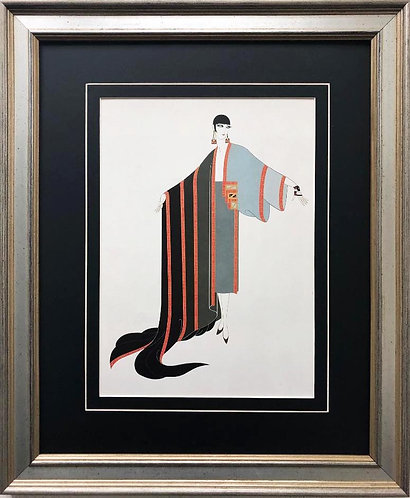 "Erte ""Michelle"" New CUSTOM FRAMED Print Art"