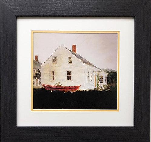 """Jamie Wyeth """"Fog Bound Island """" CUSTOM FRAMED Art"""