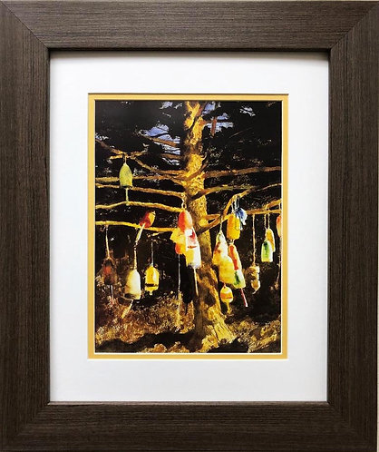 "Jamie Wyeth ""Buoy Tree '91"" CUSTOM FRAMED Art"