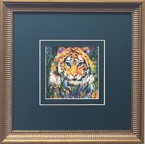 "LeRoy Neiman ""Portrait of a Tiger"" - Newly CUSTOM FRAMED Art Print - ANIMALS"