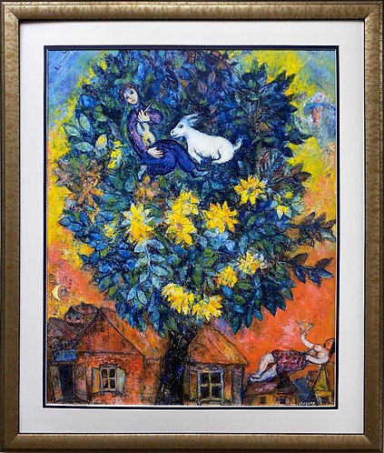 "Marc Chagall ""Autumn in the Village"" New CUSTOM FRAMED Art Poster"