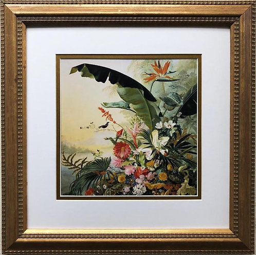 """Jean Benner Fries """"Exotic Flowers from Tropical Countries"""" Framed Art Print"""
