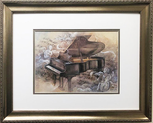 "Lena Liu ""Piano Sonata"" Signed Limited Edition Framed Art"