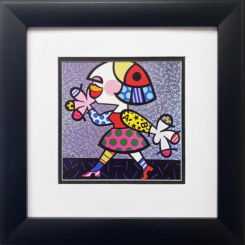 """Romero Britto """"Britto Wall"""" 1995 FRAMED Pop Art"""