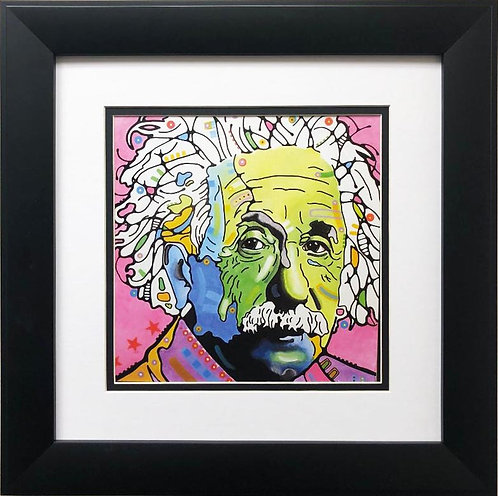 "Dean Russo ""Einstein"" CUSTOM FRAMED Street Pop Art"