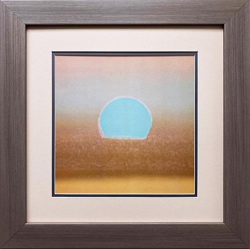 "Andy Warhol ""Sunset, 1972"" (gold, blue) FRAMED Pop Art"
