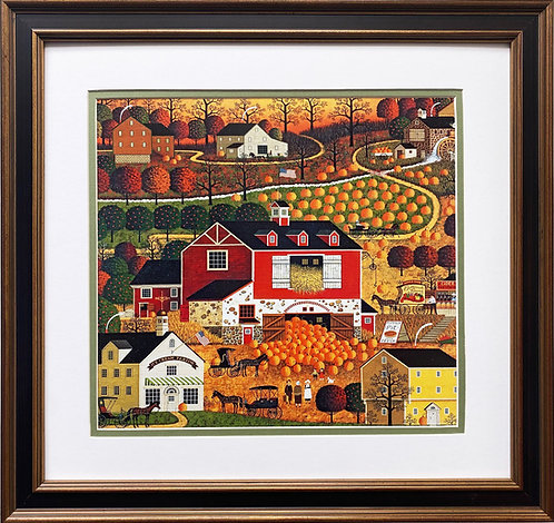 "Charles Wysocki ""Butternut Farms"" New CUSTOM FRAMED Art"