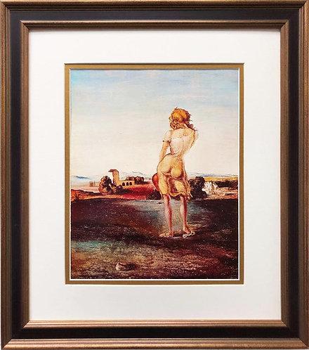 "Salvador Dali ""The Girl With Curls"" CUSTOM FRAMED ART"