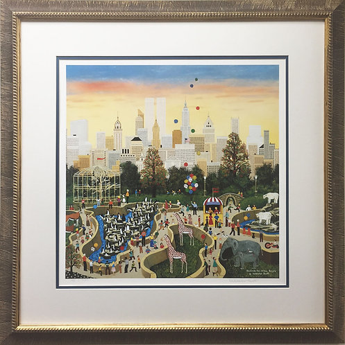 "Jane Wooster Scott ""Oasis in the Urban Jungle"" FRAMED Lithograph Hand Signed"
