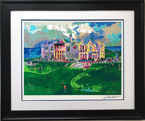"LeRoy Neiman ""Clubhouse at Old St Andrews"" Signed Framed Art Serigaph"