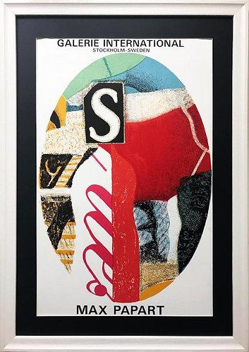 """Max Papart """"Galerie Stockholm Sweden"""" Gallery Poster Framed Art"""