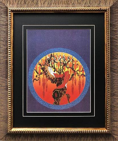 """Erte """"Heat"""" CUSTOM FRAMED Print"""