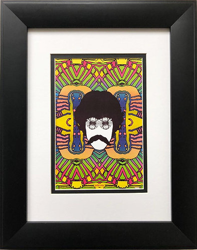 "Peter Max ""Self Portrait"" Newly CUSTOM FRAMED Print"