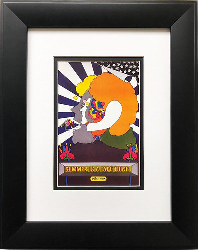 "Peter Max ""Summer is A Tape Thing"" Newly CUSTOM FRAMED Print"