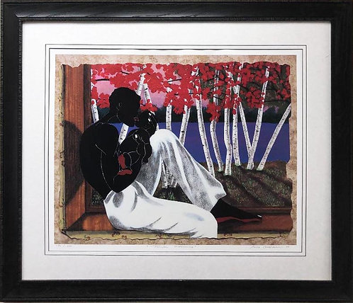 """Leroy Campbell """"Tender moments"""" Hand Signed & # African American Art"""