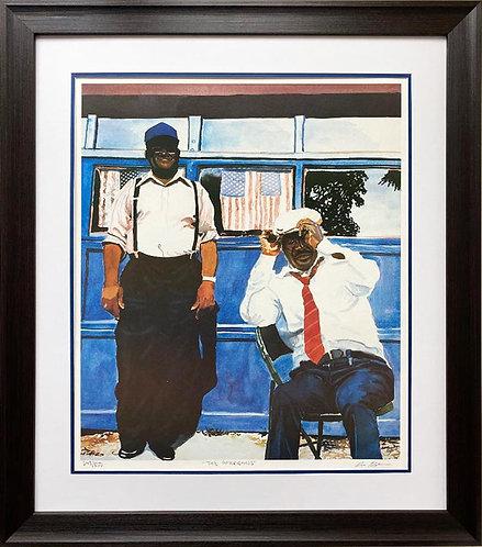 "Dane Tilghman "" The Americans"" Hand Signed Lmtd Edition Black Art"