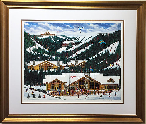 "Jane Wooster Scott ""Mountain Majesty"" Custom Framed Lithograph Hand Signed Art"
