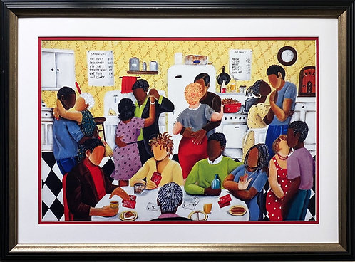 "Annie Lee ""Pay The Rent Quarter Party"" Custom FRAMED African American ART"