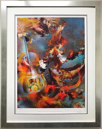 "Leonardo Nierman ""Sound of Color- Bach"" Framed Art"