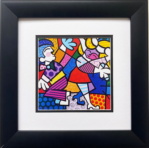 "Romero Britto ""Samba"" CUSTOM FRAMED Pop Art"