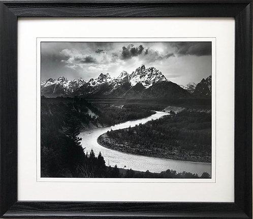 "Ansel Adams ""Tetons/Snake River"" Custom Framed NEW lithograph ART Photography"