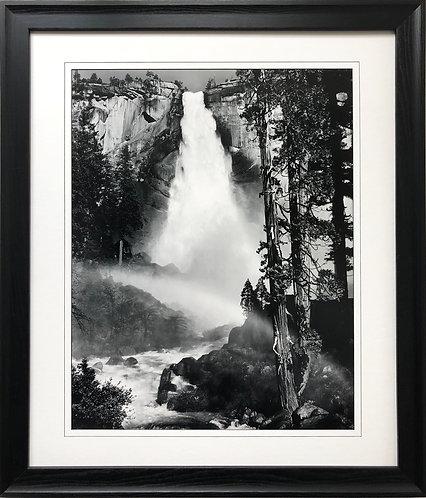 "Ansel Adams ""Nevada Fall"" Custom Framed NEW lithograph ART  B & W Photography"